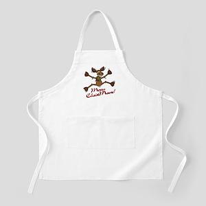 Merry Christmoose [jumping] BBQ Apron